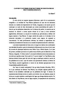 CANTOS Y CANTORES CONSTRUCTORES DE IDENTIDADES EN FRAY MARCOS (URUGUAY)