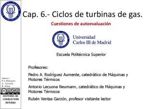 Cap. 6.- Ciclos de turbinas de gas