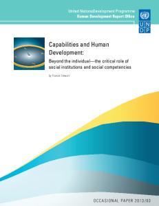 Capabilities and Human Development: