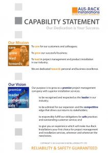 CAPABILITY STATEMENT Our Dedication is Your Success