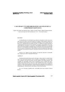 CAPACIDAD Y VULNERABILIDAD DE LOS SUELOS DE LA COMUNIDAD VALENCIANA