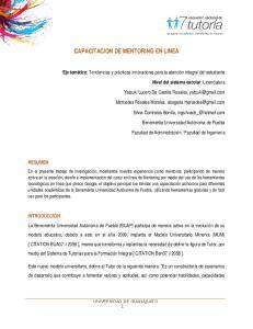 CAPACITACION DE MENTORING EN LINEA