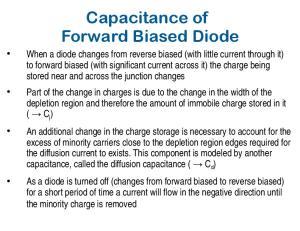 Capacitance of Forward Biased Diode