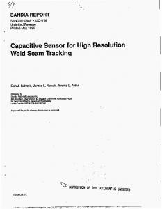Capacitive Sensor for High Resolution Weld Seam Tracking