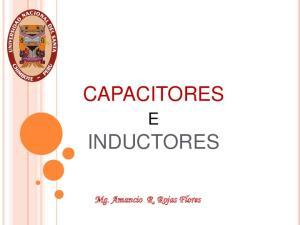 CAPACITORES INDUCTORES. Mg. Amancio R. Rojas Flores