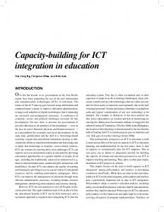 Capacity-building for ICT integration in education