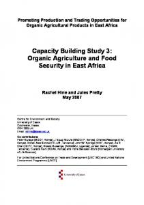 Capacity Building Study 3: Organic Agriculture and Food Security in East Africa