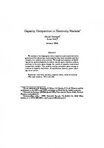 Capacity Competition in Electricity Markets
