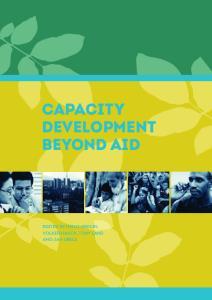 CAPACITY DEVELOPMENT BEYOND AID
