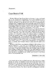 Cape Breton Folk. Documents