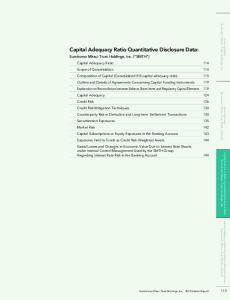 Capital Adequacy Ratio Quantitative Disclosure Data: