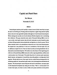 Capital and Bank Runs