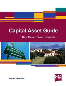 Capital Asset Guide. New Mexico State University