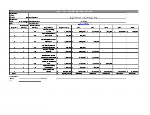 Capital Budget Request Form Department Agency Number
