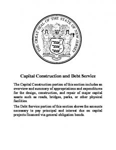 Capital Construction and Debt Service