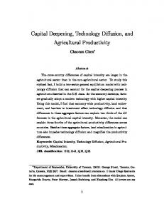 Capital Deepening, Technology Diffusion, and Agricultural Productivity