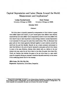 Capital Depreciation and Labor Shares Around the World: Measurement and Implications
