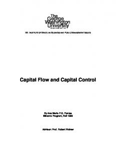 Capital Flow and Capital Control