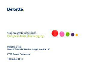 Capital gain, asset loss European bank deleveraging