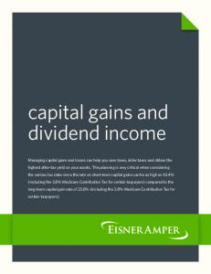 capital gains and dividend income