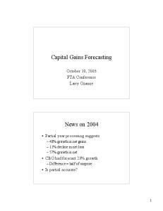Capital Gains Forecasting