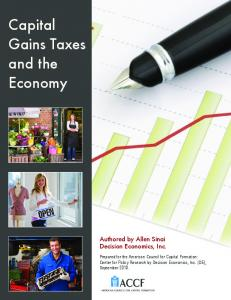Capital Gains Taxes and the Economy