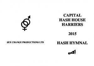 CAPITAL HASH HOUSE HARRIERS SEX CHANGE PRODUCTIONS LTD HASH HYMNAL