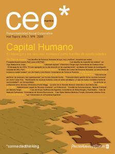 Capital Humano El liderazgo y los recursos humanos como fuentes de oportunidades
