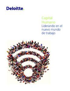 Capital Humano. Liderando en el nuevo mundo de trabajo