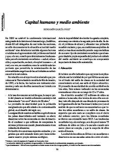 Capital humano y medio ambiente