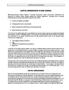 CAPITAL IMPROVEMENT & DEBT SERVICE