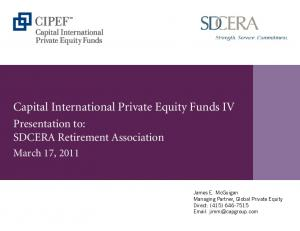 Capital International Private Equity Funds IV