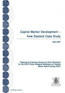 Capital Market Development New Zealand Case Study