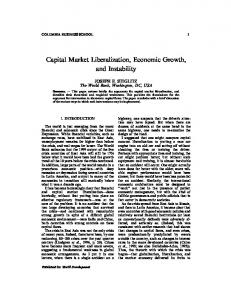 Capital Market Liberalization, Economic Growth, and Instability