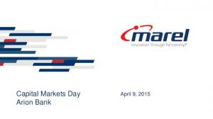 Capital Markets Day Arion Bank. April 9, 2015