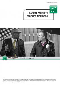 CAPITAL MARKETS PRODUCT RISK BOOK