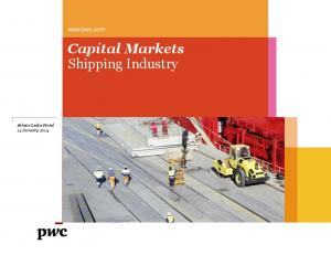 Capital Markets Shipping Industry