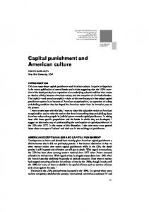 Capital punishment and American culture