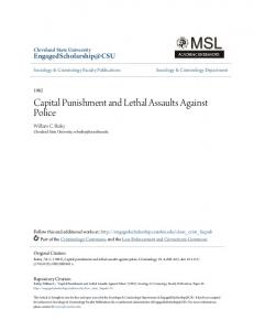Capital Punishment and Lethal Assaults Against Police