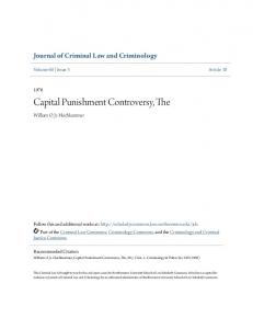 Capital Punishment Controversy, The
