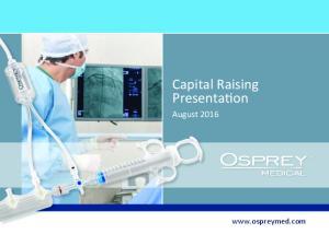 Capital Raising Presenta6on