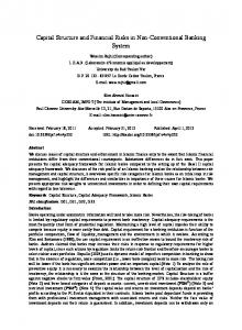 Capital Structure and Financial Risks in Non-Conventional Banking System