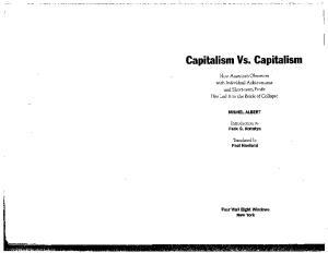 Capitalism Vs. Capitalism