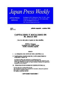 CAPITALISMO Y SOCIALISMO EN EL SIGLO XXI