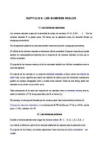 CAPITULO 0. LOS NUMEROS REALES