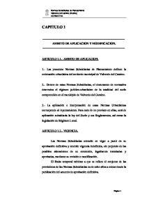 CAPITULO 1 AMBITO DE APLICACION Y MODIFICACION. ARTICULO AMBITO DE APLICACION