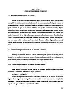 CAPITULO 2 LOS RECURSOS DEL TURISMO