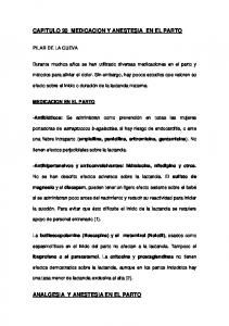 CAPITULO 20 MEDICACION Y ANESTESIA EN EL PARTO
