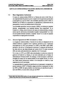 CAPITULO 3 CONDICIONES ACTUALES DEL MANEJO DE LOS RESIDUOS SOLIDOS