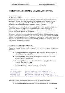 CAPITULO 4: ENTRADA Y SALIDA DE DATOS